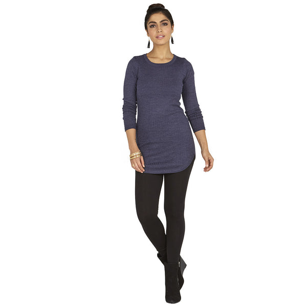 Round-Trip Navy Long-Sleeve Tunic - Citi Trends Ladies - Front