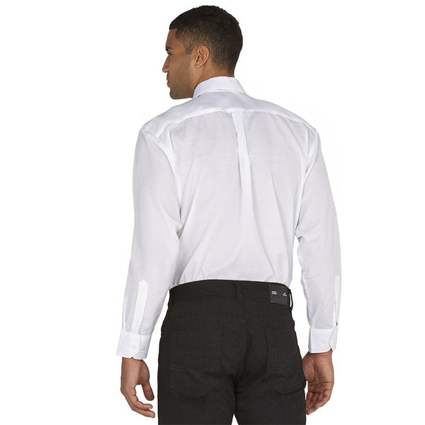 Dress To Impress White/Black Pattern 3-Piece Dress Shirt Gift Box Set - Citi Trends Mens - Back