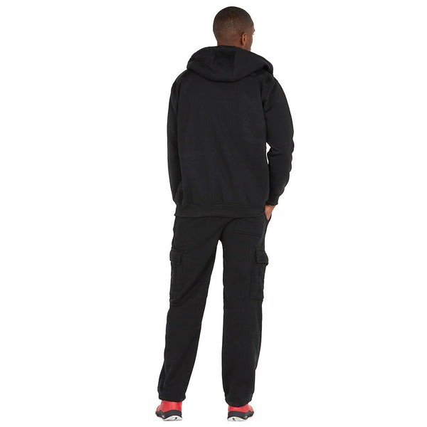 Chill Out Black Fleece Zip-Up Hoodie - Citi Trends Mens - Back