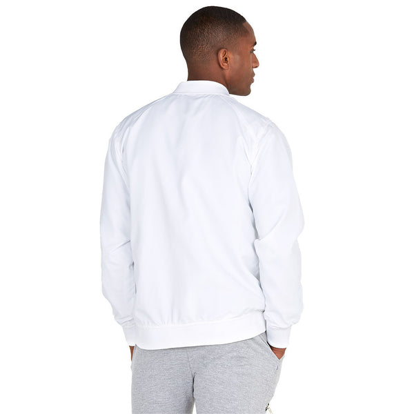 Safety Net White Bomber Jacket With Mesh Overlay - Citi Trends Mens - Back