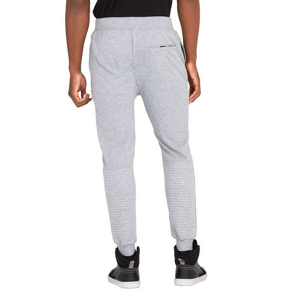 Zip To It Grey Fleece Moto Jogger - Citi Trends Mens - Back