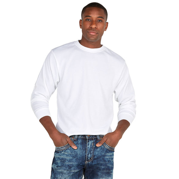 Back To Basics White Crew-Neck Thermal Tee - Citi Trends Mens - Front