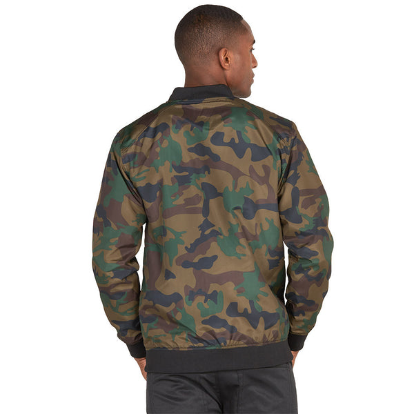 Safety Net Camo Bomber Jacket With Mesh Overlay - Citi Trends Mens - Back