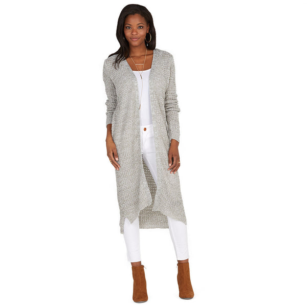 Layering Up Grey Knit Duster Cardigan - Citi Trends Ladies - Front