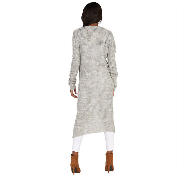 Layering Up Grey Knit Duster Cardigan - Citi Trends Ladies - Back