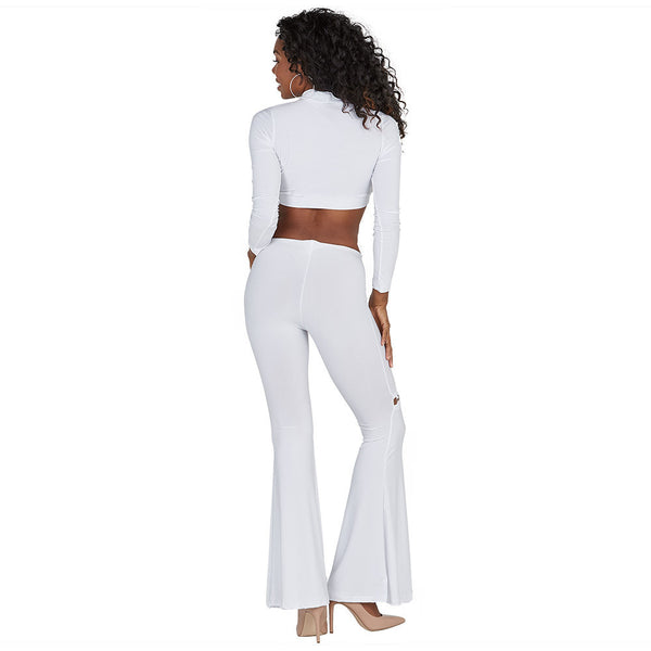 Crisp Connection White Mock-Neck Crop Top - Citi Trends Ladies - Back