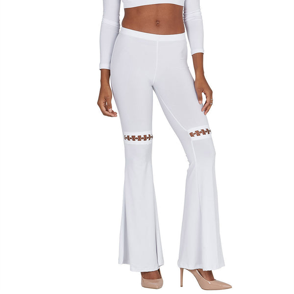 Crisp Connection White Flare Pant - Citi Trends Ladies - Front