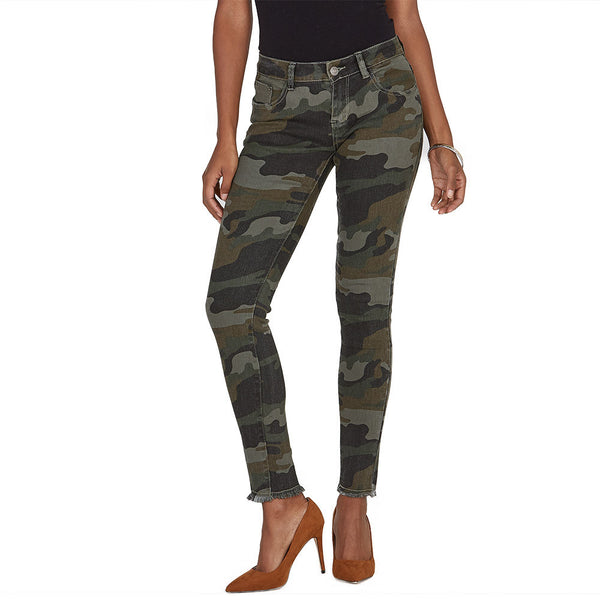 The Frays That Pays Camo Super Stretch Skinny Pant - Citi Trends Ladies and Plus - Front