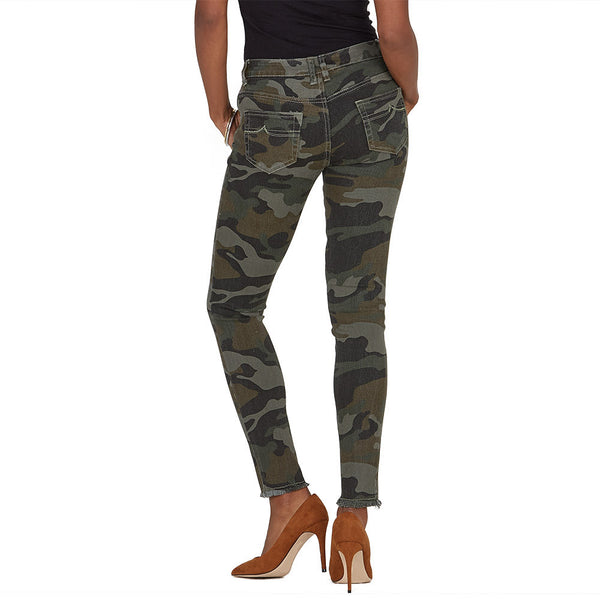 The Frays That Pays Camo Super Stretch Skinny Pant - Citi Trends Ladies and Plus - Back