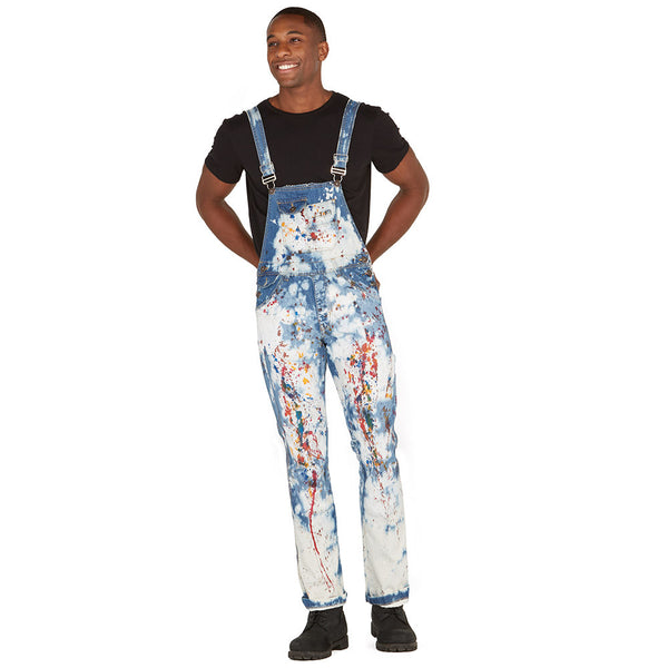Stroke Of Genius Paint Splatter Denim Overalls