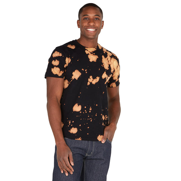 Spot Treatment Black Acid Wash High-Low Tee - Citi Trends Mens - Front