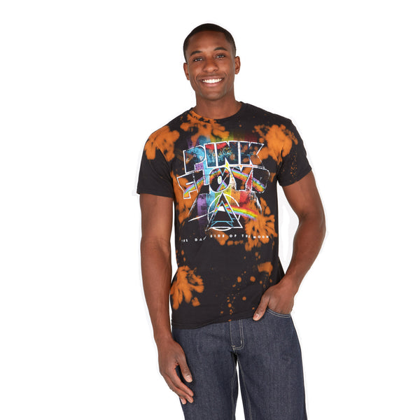 Total Eclipse Plink Floyd Bleached Graphic Tee - Citi Trends Mens - Front
