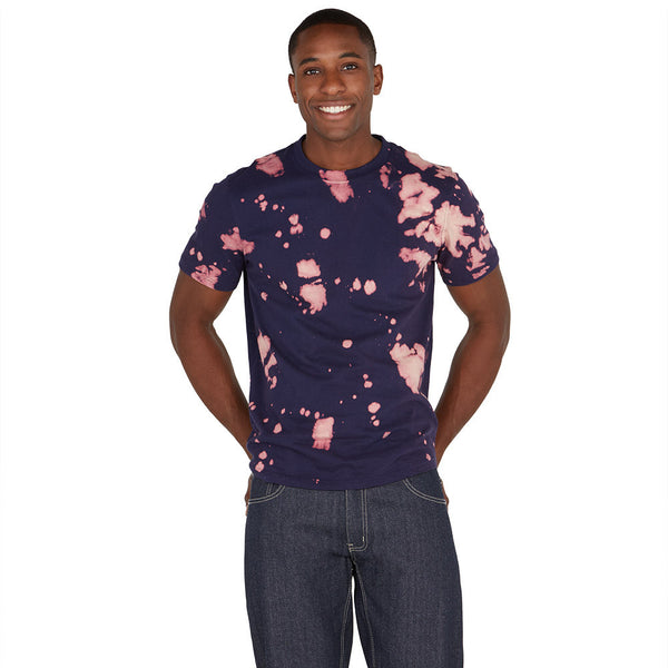 Spot Treatment Blue Acid Wash High-Low Tee - Citi Trends Mens - Front