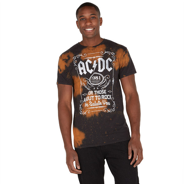 For Those About To Rock AC/DC Bleached Graphic Tee - Citi Trends Mens - Front
