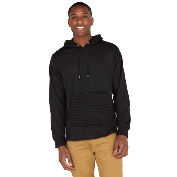 The Zip Degree Black Fishtail-Hem Hoodie - Citi Trends Mens - Front