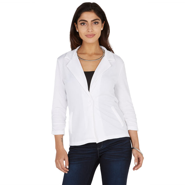 Take Things Up A Notch White Blazer - Citi Trends Plus and Juniors - Front
