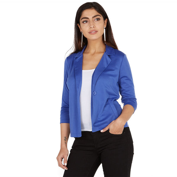 Take Things Up A Notch Royal Blue Blazer - Citi Trends Plus and Juniors - Front