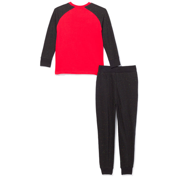 2-Piece Black/Red Baseball Tee And Jogger Set - Citi Trends Boys - Back