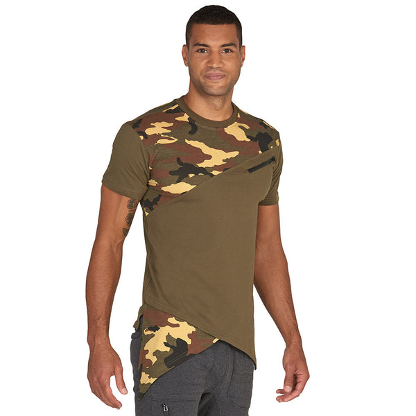 Camo Flow Fishtail Hem Tee - Citi Trends Mens - Front