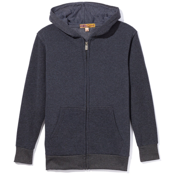 Charcoal Fleece Zip-Up Hoodie - Citi Trends Boys - Front