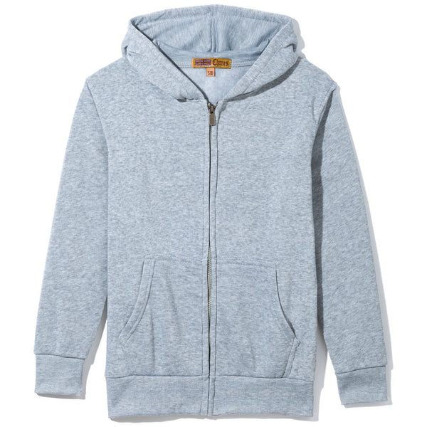 Grey Fleece Zip-Up Hoodie - Citi Trends Boys - Front