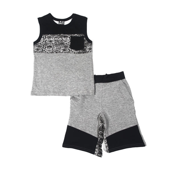 Between The Lines 2-Piece Boys Short Set - Citi Trends Boys - Front