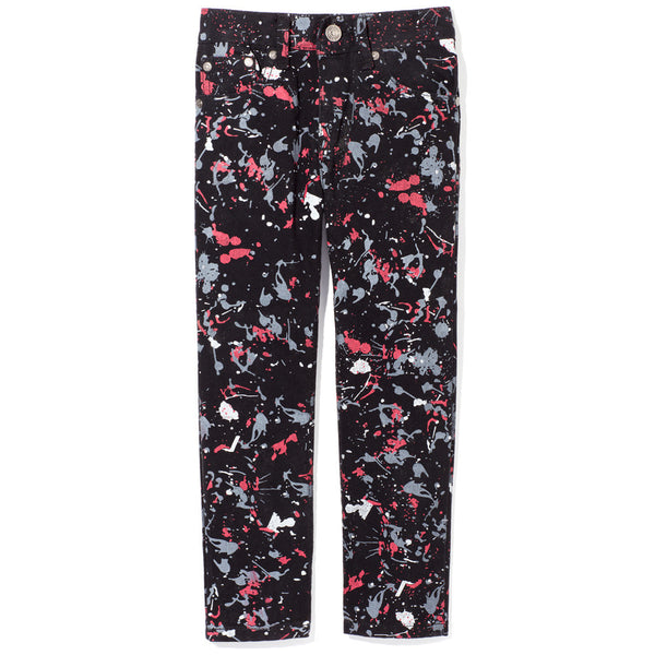 Splash More Like It Boys Paint Splatter Black Jean - Citi TrendsBoys - Front