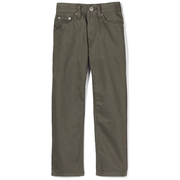 Olive Bull Denim Straight Leg Jean - Citi Trends Boys - Front