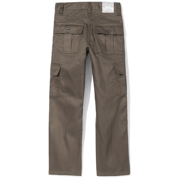 Boys Olive Moto Pants With Cargo Pockets - Citi Trends Boys - Back