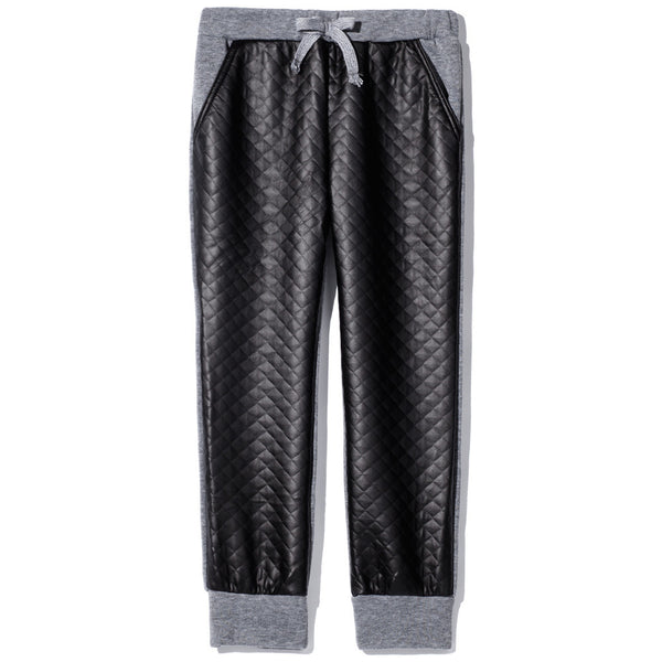Lounge-Luster Girls Quilted Jogger - Citi TrendsGirls - 1