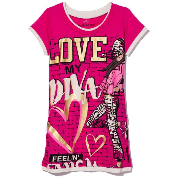 Diva Love Girls Graphic Tee - Citi Trends Girls - Front