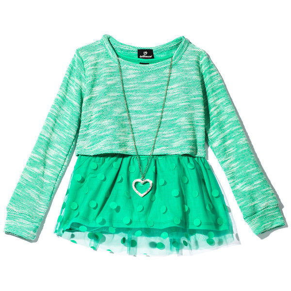 All The Frills Girls Mint Necklace Top - Citi Trends Girls - Front