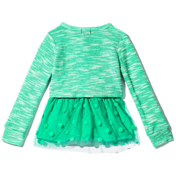 All The Frills Girls Mint Necklace Top - Citi Trends Girls - Back