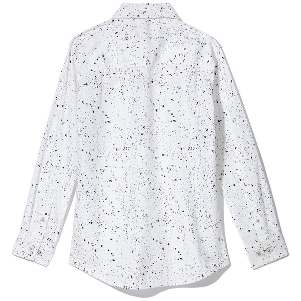 Black/White Paint Splatter Long-Sleeve Button-Up Shirt - Citi Trends Boys - Back