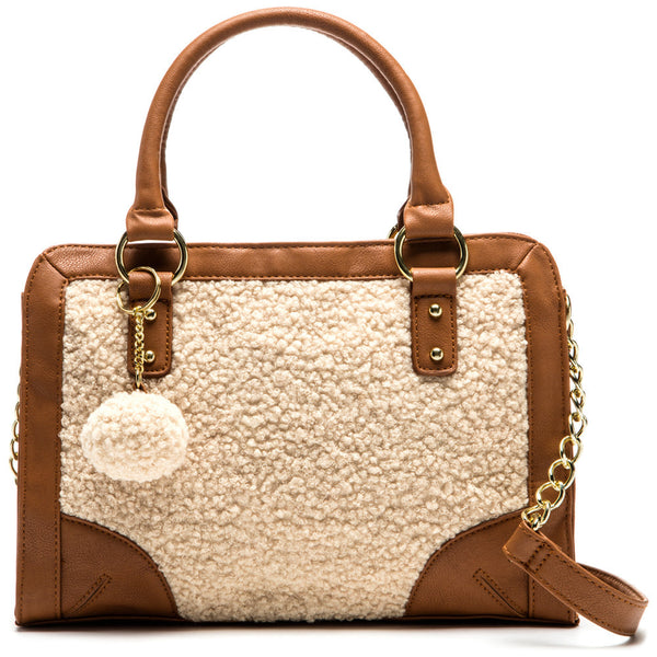 Flurries n' Fun Sherpa Satchel - Citi Trends Accessories - Front