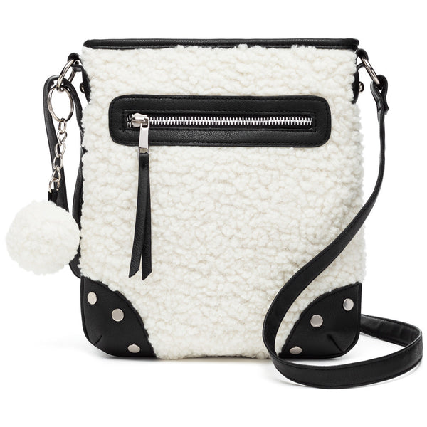 Let It Snow Sherpa Crossbody - Citi Trends Accessories - Front