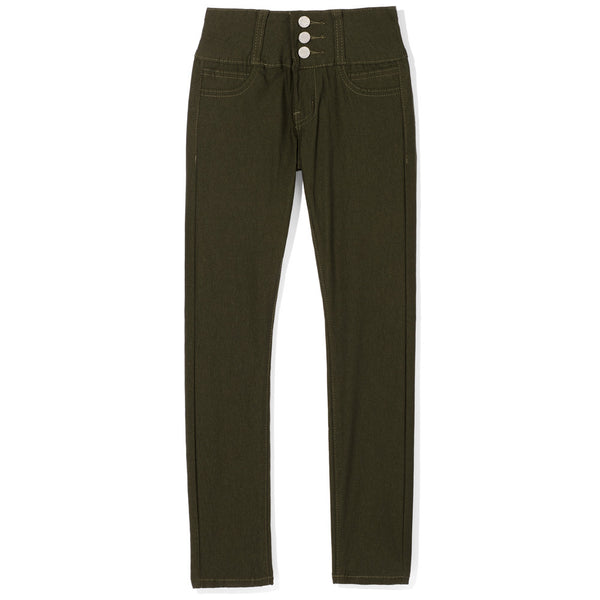 Essential Ingredient Girls Olive High-Waist Pant - Citi Trends Girls - Front