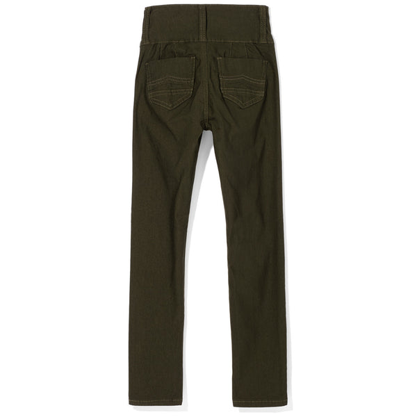 Essential Ingredient Girls Olive High-Waist Pant - Citi Trends Girls - Back