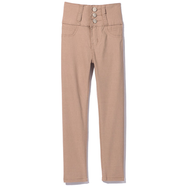 Khaki 3-Button High-Waist Super Soft Skinny Pant  - Citi Trends - Girls - Front