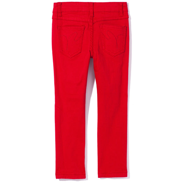 Red Ripped And Tear Denim Skinny Jean - Citi Trends Girls - Back