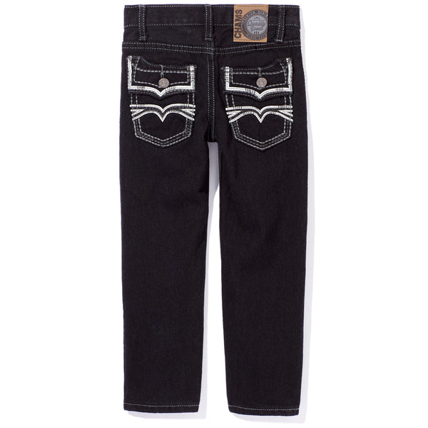 A Stitch In Time Boys Black Jean - Citi TrendsBoys - Back