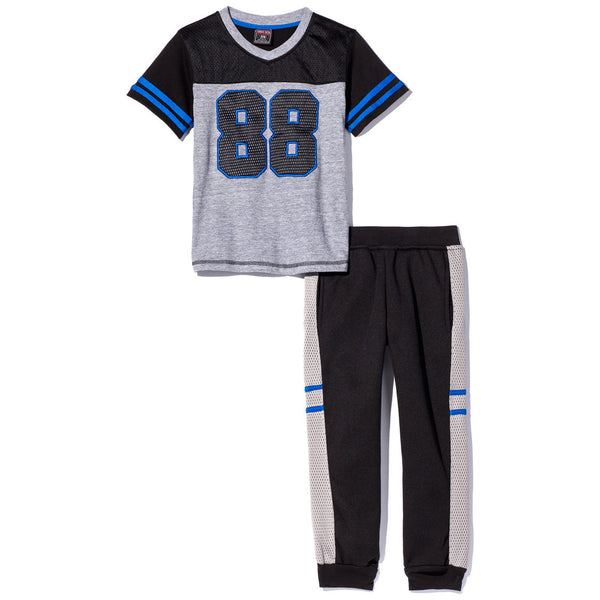 The Stripe Degree 2-piece Boys Blue Varsity Stripe Jogger Set - Citi TrendsBoys - 1