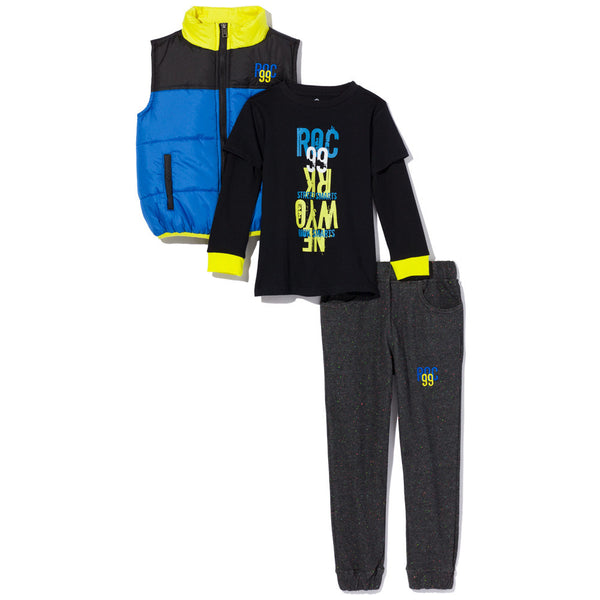Street Smarts Boys 3-Piece Twill Jogger Set - Citi Trends Boys - Front