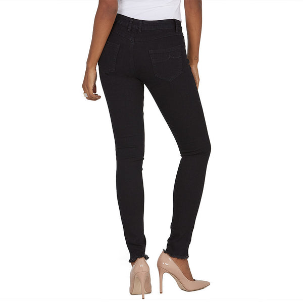 The Frays That Pays Black Super Stretch Skinny Pant - Citi Trends Ladies and Plus - Back