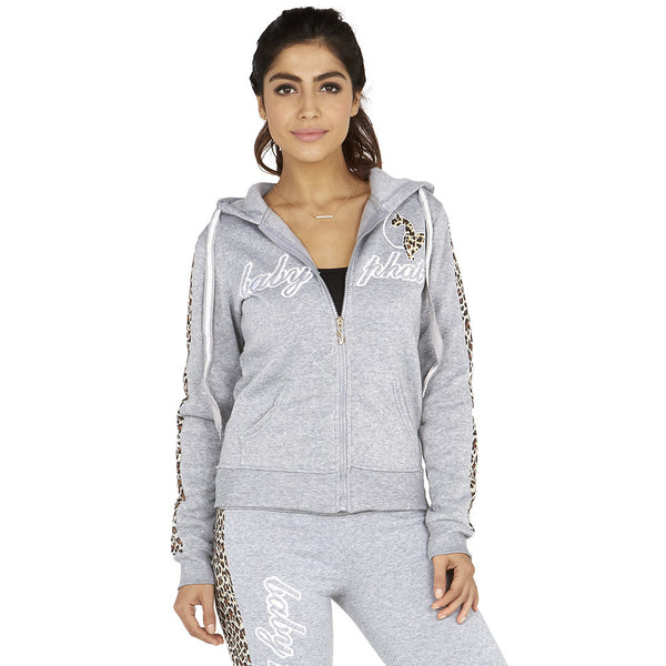Cheetah Chill Baby Phat Grey Fleece Hoodie - Citi Trends Ladies - Front