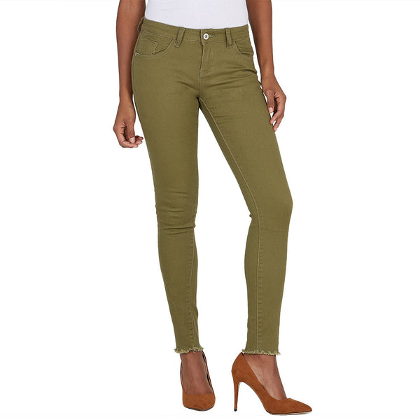 The Frays That Pays Olive Super Stretch Skinny Pant - Citi Trends Ladies and Plus - Front