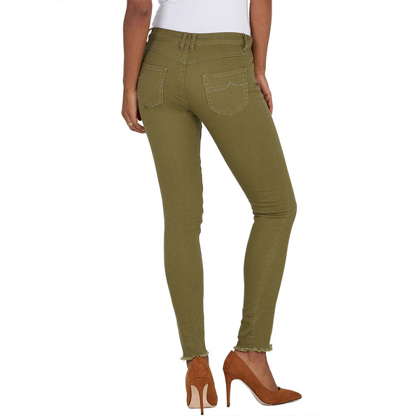 The Frays That Pays Olive Super Stretch Skinny Pant - Citi Trends Ladies and Plus - Back