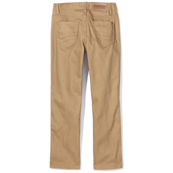 Khaki Straight Leg Pant - Citi Trends Boys - Back