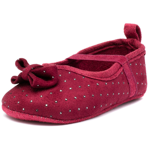 Dot In The Dark Burgundy Studded Baby Girl Mary Jane - Citi TrendsBaby - 1