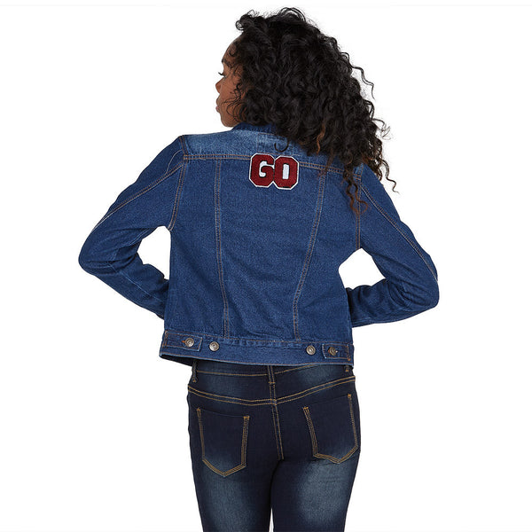 Good-To-Go Patchwork Denim Jacket - Citi Trends Ladies and Plus - Back
